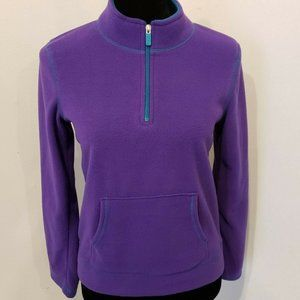 Danskin Now XL 14-16 Purple 1/4 Zip Fleece
